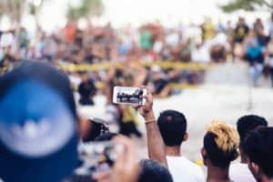 Filming in public