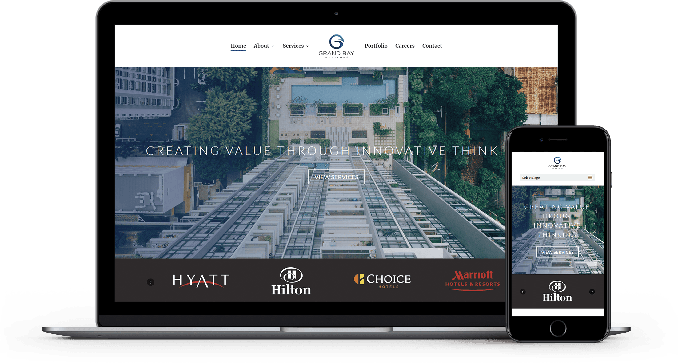 Grand Bay Asvisors Responsive Website